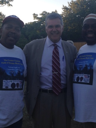 Franczyk at National Night Out